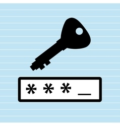 Security password design vector