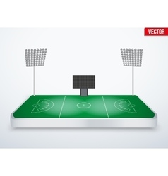 Concept of miniature tabletop lacrosse stadium vector