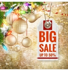 Christmas sale design template eps 10 vector