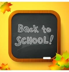 Back to school autumn chalkboard card vector image