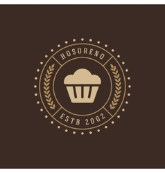 Bakery shop design element in vintage style for vector