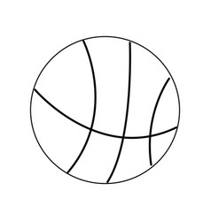 Basketball ball sport equipment supply icon vector