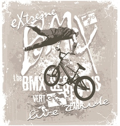 BMX extreme free style vector image vector image
