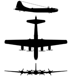 Boeing B29 Superfortress vector image