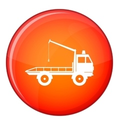 Car towing truck icon flat style vector
