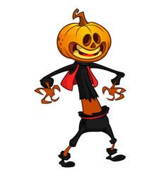 cartoon image of jack o lantern vector image