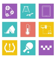 Color icons for Web Design set 30 vector image vector image