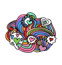 Colorful Zentangle Doodle vector image vector image