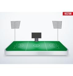 Concept of miniature tabletop lacrosse stadium vector