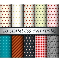 Decorative patterns collection vector