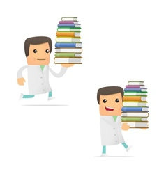 doctor with books vector image vector image