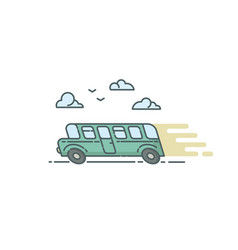 flat of bus vector image