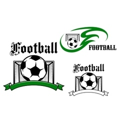 Football and soccer game symbols vector