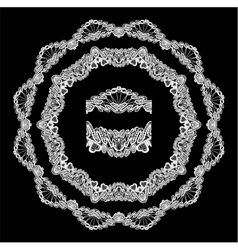 Lace round 3 380 vector
