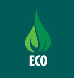 Logo eco vector