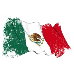 Mexico Flag Grunge vector image