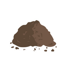 pile of ground or compost vector image vector image