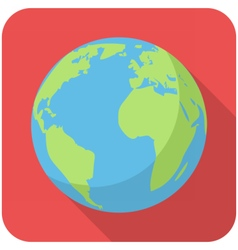 Planet earth icon vector