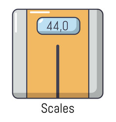 scales icon cartoon style vector image