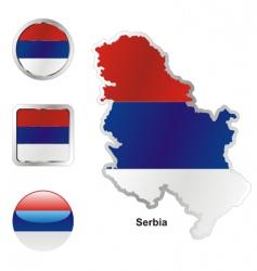 serbia vector image vector image