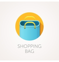 shopping bag Icon Flat style design vector image