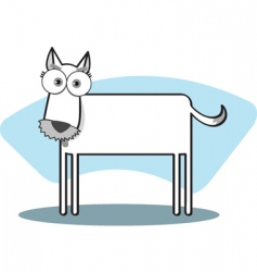 square animal dog vector image vector image