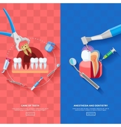 Vertical banner dentist vector