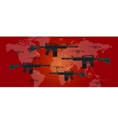 world war arms conflict military gun map plane vector image