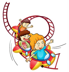 Cartoon roller coaster vector