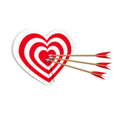 target heart icon art web amorousness concept vector image