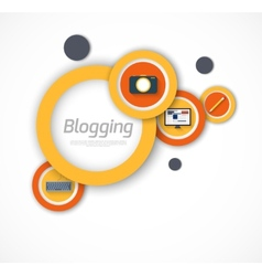 Blogging background vector image