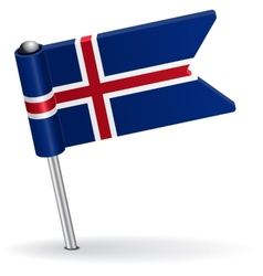 Icelandic pin icon flag vector
