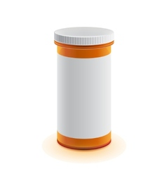 3d realistic medicine bottle for pillows vector