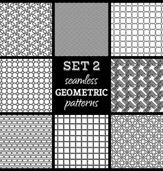 SET 2 Seamless geometric patterns vector image