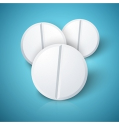 Set of photorealistic medicine pill pharmacy vector