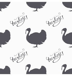 Hand drawn farm bird hipster silhouettes seamless vector