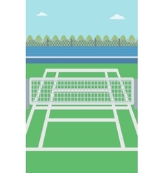 Background of tennis court vector
