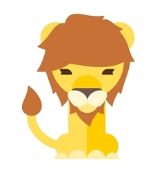 Lion front body 01 vector