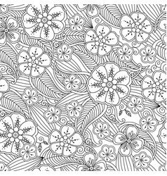 Abstract hand drawn outline seamless pattern with vector