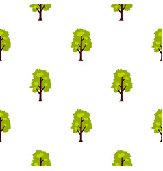 Big green tree pattern flat vector
