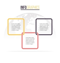 Business infographics timeline with 3 steps vector