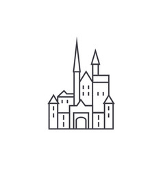 castle in germany line icon sign vector image vector image
