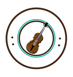 Chello instrument seal icon vector