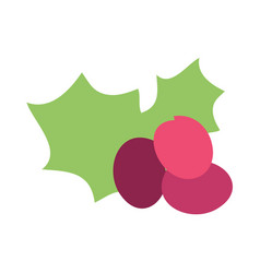 christmas grape icon vector image