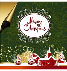 christmas nMerry Christmas background vector image vector image