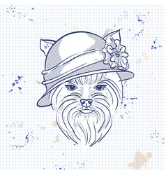 color sketch of elegant dog vector image vector image
