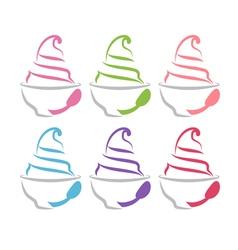 Concept of frozen yogurt vector