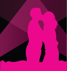 couple in love in colorful vector image