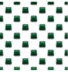 Dark green square button pattern vector