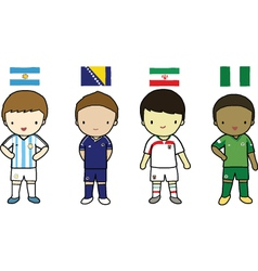 FIFA 2014 Football Players Group F vector image
